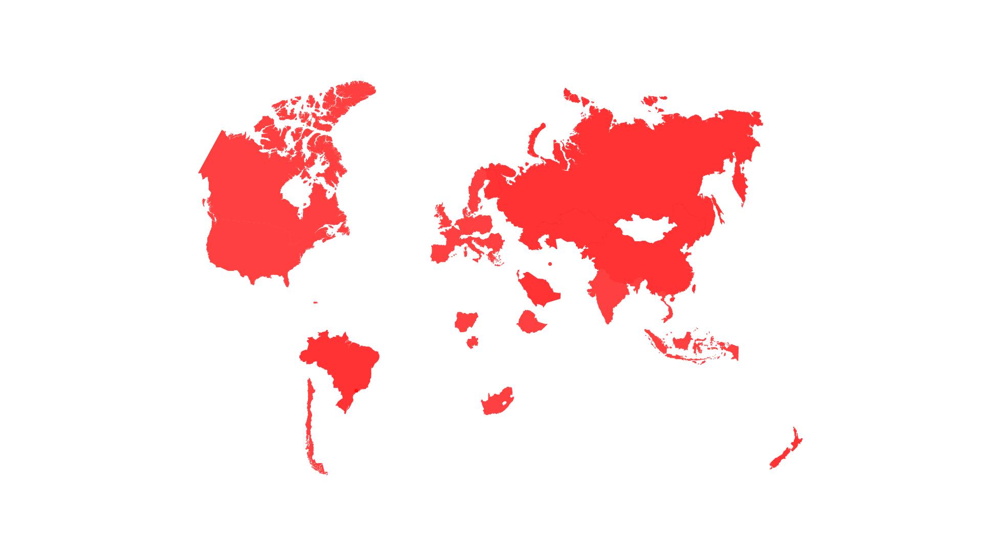 UPM Internationale Projekte, Weltkarte
