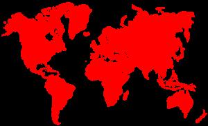 UPM international, Weltkarte